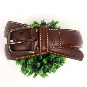Polo by Ralph Lauren brown leather belt